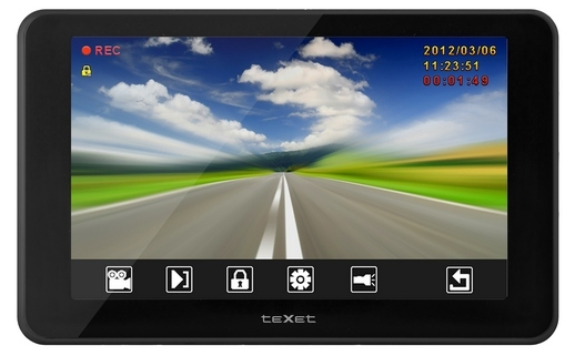 Автомобильный навигатор с видеорегистратором TEXET TN-522HD DVR